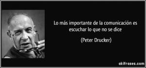 Comunicación-Peter Drucker
