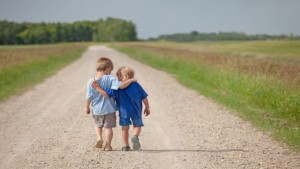 kindness-two-kids-walking-together