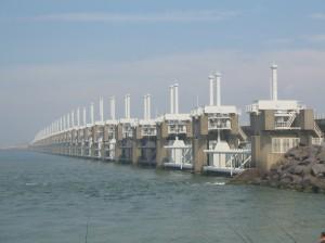 Eastern Scheldt storm surge barrier http://en.academic.ru.