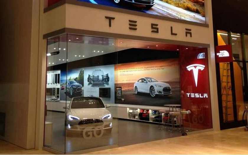 Fotografía de una tienda de Tesla